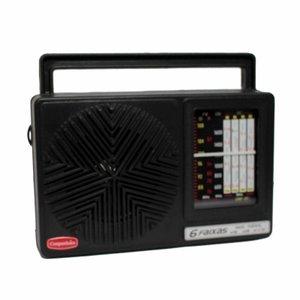 Rádio Portátil Am Fm Oc 6 faixas com Aux Companheiro crp61