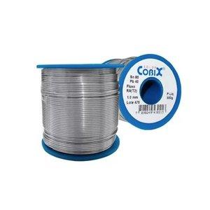 Fio De Solda Estanho Eletrônica 1.0 Mm Rolo 500g Cobix 60x40