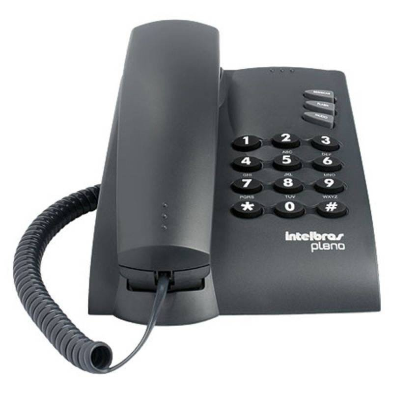 Telefone Pleno Preto - Funcoes Flash, Redial Mute - 4