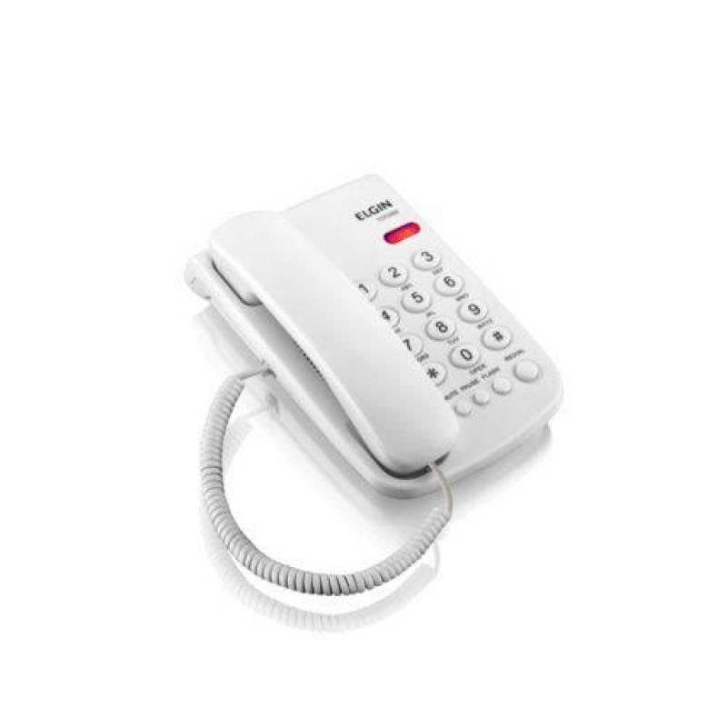 Telefone Com Fio Basico, Cor Branca E Com Indicação Luminosa