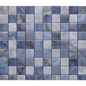 Papel de Parede Auto Adesivo Lavável Pastilha Azul Marinho