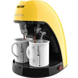 Cafeteira Single Amarela CAF214 com 2 xícaras Cadence Colors - Modelo novo design