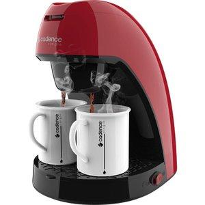 Cafeteira Single Vermelha CAF211 com 2 xícaras Cadence Colors - Modelo novo design