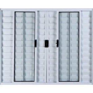 Janela Veneziana de Alumínio 6 Folhas 1,00 X 1,50 Sem Grade Cor Branco Linha All Modular