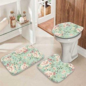 Jogo Tapetes para Banheiro Flowers Único