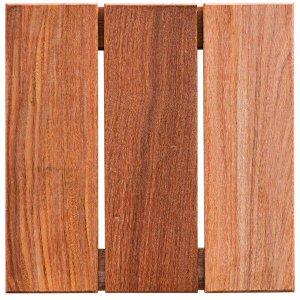 Deck de Madeira Modular Base Madeira Isabela Revestimentos 30cmx30cm (Placa)