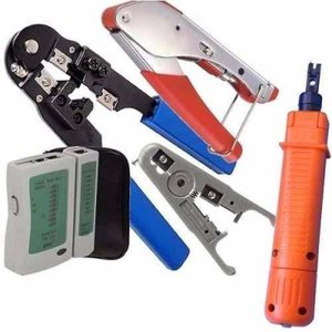 Mega Kit Conjunto Alicate Rj45 Sem Trava + Acessórios