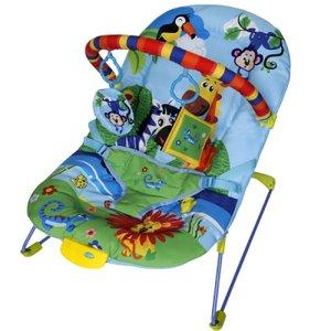 Cadeirinha musical vibratória descanso para o bebê azul