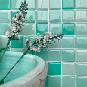 Pastilha Adesiva Resinada Miscelânea Verde Água
