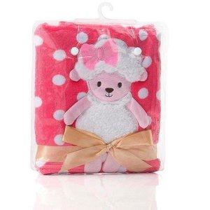 Cobertor Manta de Bebê Ovelhinha Rosa Pink