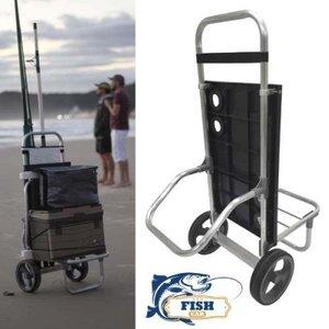 Carrinho De Pesca Fish Car Alumínio para Pescaria  Vara Caixa térmica cadeira - Zaka