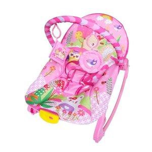 Cadeira De Descanso New Rocker Vibratória e Musical Rosa - Color Baby