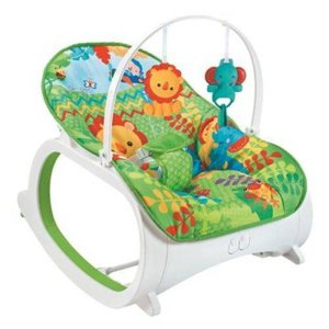 Cadeira de Descanso Musical com Móbiles e Balanço Coloy Baby -Verde