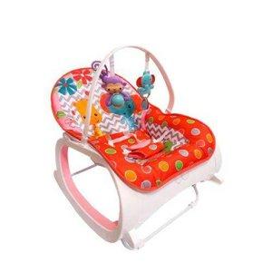 Cadeira de Descanso Musical com Móbiles e Balanço Color Baby -Vermelho