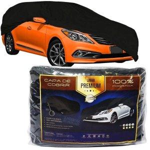 Capa de Couro Impermeável Cobrir Protetora A6 Camaro Omega 300 Fusion Mustang Sentra Versa Azera