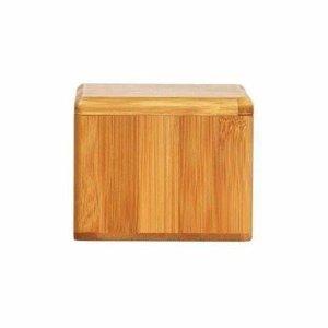 Saleiro Em Bambu Com Tampa Giratória
