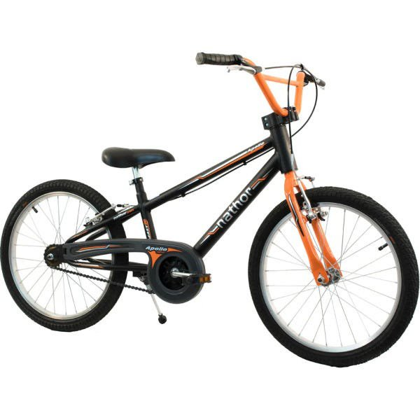 Bicicleta Nathor Apollo Aro 20 Rígida 1 Marcha - Laranja/preto