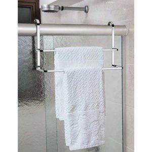 Toalheiro Duplo de Box 45cm Porta Toalhas de Banho Banheiro - Cromado
