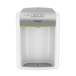 Purificador de água Consul Prata refrigerado, com proteção antibactérias - CPB34AS