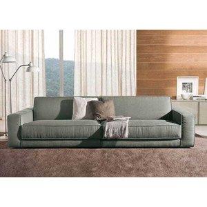 Sofá de 3 Lugares, Revestimento em Sarja Cinza - Log010