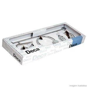Kit de acessórios para banheiro com 5 peças Flex cromado Deca