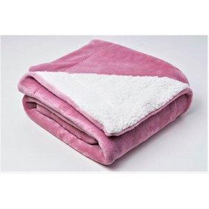 Cobertor De Bebe Para Berço Menina Rosa 1,10x90Cm Sultan