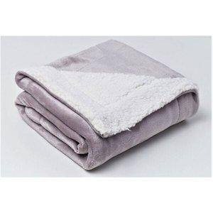 Cobertor de Bebe Para Berço 1,10x90cm Sherpa Cinza Sultan