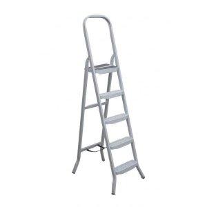 Escada De Aco Uso Domestico 5 Degraus Maestro