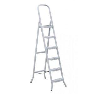 Escada De Aco Uso Domestico 6 Degraus Maestro