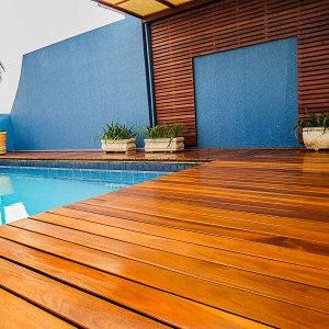 Deck em régua Isabela 2cm x 10cm x 2m até 4m Madeira Cumaru (m²)