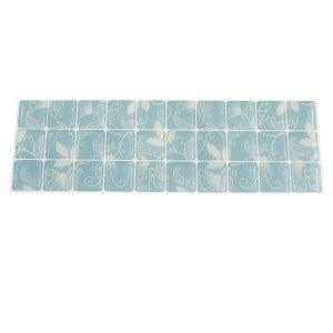 Pastilha Adesiva Decorativa Resinada Floral Blue