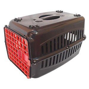 Caixa de transporte para cachorros n3 porta coloridas - Vermelho