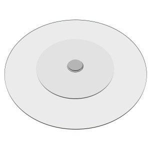 Prato Giratório de Mesa 110 cm Incolor em Vidro Temperado 8mm