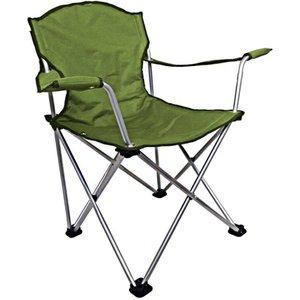 Cadeira Retrátil Com Encosto De Braço Para Pesca Jogá Cor Verde Aço Suporta 120kg