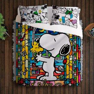Jogo Cama Casal - Snoopy e Woodstock - Vitral - Desenho