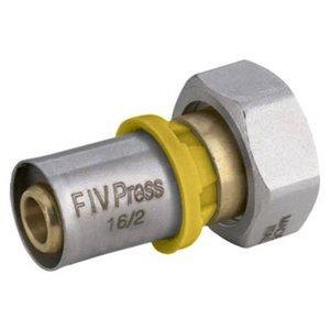 Conector Fêmea Móvel Para Gás 16mm X 3/4 - Prensar Emmeti