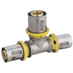 Tê Redução Para Gás 26x16x20 - Prensar Emmeti