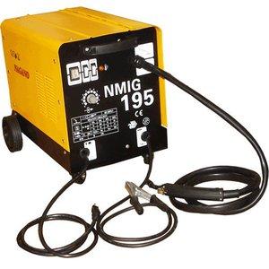 Máquina de Solda 195 Ampéres 60 HZ 220V 5.2KvA Flex Solda Ferro Inox Alumínio - NMIG195