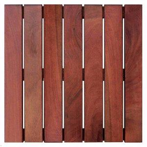Deck de Madeira Modular Base Madeira Isabela Revestimentos 50cmx50cm (Placa)