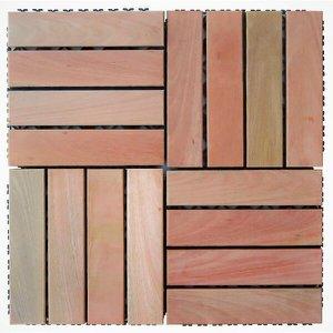 Deck de Madeira Modular Base Plástica Isabela Revestimentos 30cmx30cm (Placa)