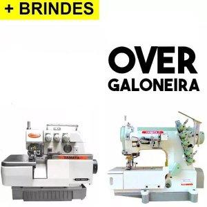 Kit= +Galoneira+Overlock Industriais, completas -Yamata-