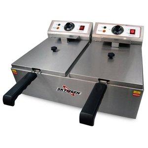 Fritadeira Elétrica Fed-20-N Inox 2 Cubas 5 Litros 2500W 220V - Skymsen