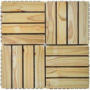 Kit Deck de Madeira Modular Base Plástica Isabela 30cmx30cm com 25 Placas