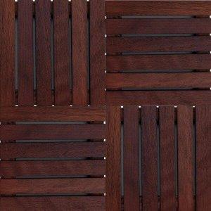 Kit Deck de Madeira Modular Isabela 30cmx30cm com 20 Placas