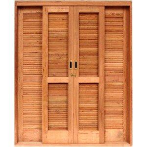 Porta de Correr Veneziana Madeira 6 Folhas Isabela Revestimentos 2,15mx1,60mx15cm