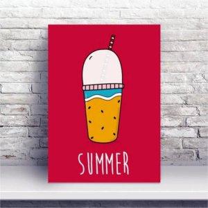 Placa MDF Verão Milk Shake