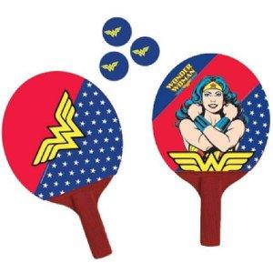 Par de Raquetes Ping Pong 3 Bolas Mulher Maravilha Bel Fix