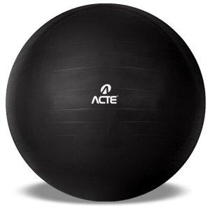 Bola de Pilates Ginastica Gym Ball T9 65cm Preta Acte Sports