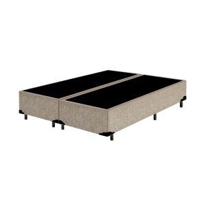 Base Box King Bipartido Suede Bege (26x198x203)