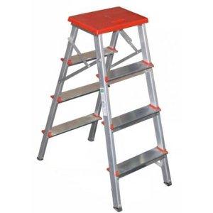 Escada Domestica Multiuso de Alumínio 3 Degraus Dobrável